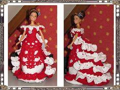 de Marie Barbie Dress, Crochet, Creations, Dressing, Gowns, Knitting, Holiday Decor, Dragon, Doll