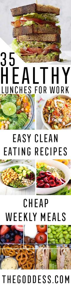 Healthy Lunches for Work - Easy, Quick and Cheap Clean Eating Recipes That You Can Take To Work - Weekly Meals That Are Great for Health Fitness and Weightloss - Low Fat Recipe Ideas and Simple Low Carb Meals That are High In Protein and Taste Great Cold - Vegetarian Options and Weight Watchers Friendly Ideas that Require No Heat - https://thegoddess.com/healthy-lunches-for-work