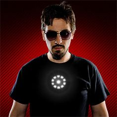 Tony Stark light up led shirt. Your life isn't complete without one!