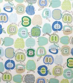 Alexander Henry Cotton Fabric-Apple Of My Eye Soft Pool