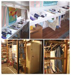 laundry room rack | Top: Mud Room drying station from EngineerADebt-FreeLife Blog; Bottom ...
