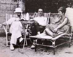 Constantin Brâncuși, Marcel Duchamp and Mary Reynolds, Villefranche, 1929