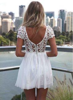 Sexy Chiffon Lace Mini Dress