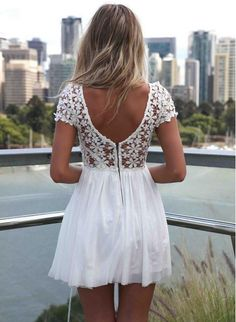 Sexy Chiffon Lace Mini Dress