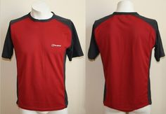 Genuine Berghaus Gore-Tex Sport Fashion Tshirt Size S/M Red Fitness With Logo