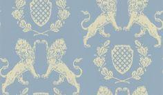 Heraldic Lion Wedgewood Blue  wallpaper by Barneby Gates