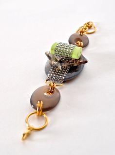 Neon Agate Bracelet