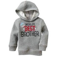 Jumping Beans Best Brother Fleece Hoodie - Baby