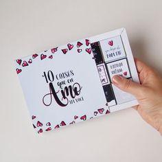 """DIY: Cartão Chocolate """"10 coisas que eu amo em você"""""""