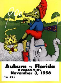 Sec Football, College Football Games, Football Program, Auburn University, Auburn Tigers, Florida Gators, Sports Art, American Football, Vibrant Colors