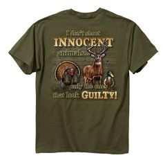 Amazon.com: Buck Wear Inc. Innocent Animals Short Sleeve Tee: Sports & Outdoors