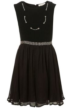Black silk & diamante dress (Kate Moss Limited Edition for Topshop, AW/2010)   Love this so much! I'd so wear this!