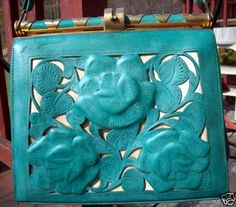 Leaders In Leather Tooled Handbag - Bing Images