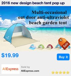 2016 new design beach tent pop up open 1-2person quick automatic opening 90% UV-protective waterproof for camping garden fishing * Pub Date: 12:24 Sep 13 2017