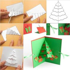 How to make a handmade Christmas tree pop-up greeting card Show someone you care about them by spending a. The post The Perfect DIY Christmas Tree Pop up Greeting Card appeared first on The Perfect DIY. Diy Christmas Cards Pop Up, Christmas Card Template, Homemade Christmas Cards, Diy Christmas Tree, Christmas Greeting Cards, Christmas Greetings, Greeting Cards Handmade, Handmade Christmas, Christmas Pops