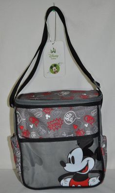 Disney Baby Mickey Mouse Grey Mini Diaper Tote Bag Diaper bag New with tags NWT  #Disney #eBay $19.99