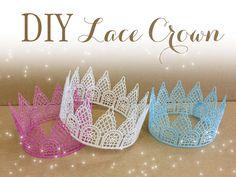 DIY lace crown (lace, fabric stiffener, paint)
