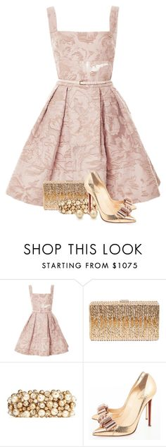 """""""Elie Saab for New Years"""" by marybeth-ramey ❤ liked on Polyvore featuring Elie Saab, Dsquared2, Valentino, Christian Louboutin and Tiffany & Co."""