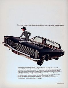 Buick Riviera Ad, 1960s, via Flickr