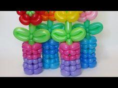 Ваза из шаров для моделирования / Cute woven vase of balloons twisting - YouTube