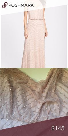 Adrianna Papell blouson dress blush New with tag Adrianna Papell Dresses Wedding
