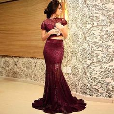 dress two piece burgundy prom lace burgundy dress