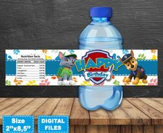 Paw patrol water bottle labels paw patrol party supplies paw