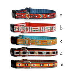 Navajo dog collar Native American pet collar Santa Fe pink dog collar Turquoise feather dog collar for puppy small dogs large dogs