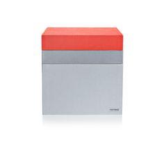 desiary.de - Tray Box quadratisch, grau/rot