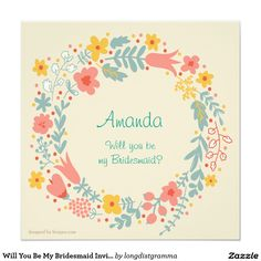 Country Bridesmaid Invitation Will You Be My Bridesmaid Invitation Country Wedding Invitations, Wedding Rsvp, Wedding Save The Dates, Wedding Invitation Design, Save The Date Cards, Be My Bridesmaid Cards, Will You Be My Bridesmaid, Wedding Bridesmaids, Wedding Thank You Cards