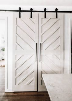 Traditional Home Decor DIY Pantry Double Barn Doors.Traditional Home Decor DIY Pantry Double Barn Doors Barn Door Pantry, Sliding Pantry Doors, Double Sliding Barn Doors, Barn Door Closet, Garage Doors, Diy Closet Doors, Diy Sliding Door, Bifold Barn Doors, Porte Diy