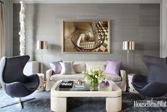 Modern living room. Egg chairs.