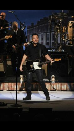Bruce Springsteen performing at the Kennedy Center Honors on December 7, 2014.