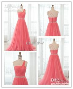 Wholesale Sexy 2013 Prom Dresses Sheath One Shoulder Pleated Tulle Floor Length Beach Bridesmaid Dresses BD09, Free shipping, $101.14/Piece ...