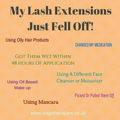 Eyelash extension after care and taking responsibility for your lashes, is really important if you want to wear lashes. www.sagetherapies.co.uk