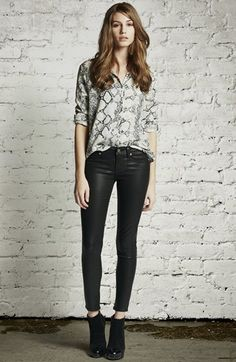 Paige Denim 'Verdugo' Coated Skinny Ankle Jeans (Black Silk) | Nordstrom