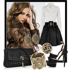"""Bronze Beauty"" by jacque-reid on Polyvore"