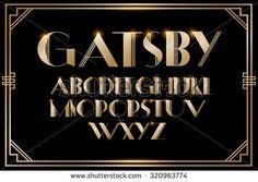 gatsby typography vector
