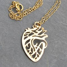 Anatomical Heart Necklace - science jewelry for a geek Valentine's Day gift