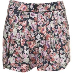 Faded Floral Saloon Shorts ($60) found on Polyvore