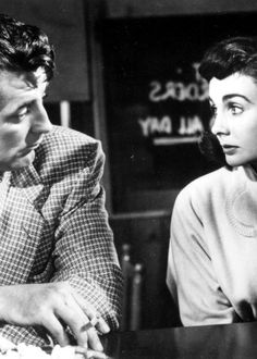 Robert Mitchum & Jean Simmons in 'Angel Face' 1952