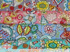 Atemberaubender Baumwollstoff (Popeline) mit bunten Blumen & Blüten auf passendem Hintergrund - Eine wahre Farbexplosion... Baumwollstoffe sind sowohl in der Inneneinrichtung als auch aus der Modewelt nicht wegzudenken! Sie lassen...