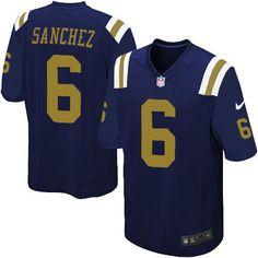 Men's Nike NFL New York Jets #6 Mark Sanchez Game Alternate Navy Blue Jersey  $79.99