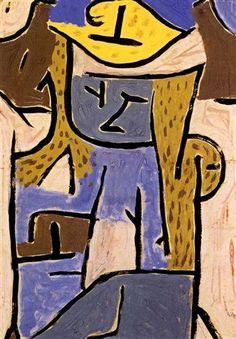 Paul Klee - Madchen mit gelbem Hut, 1938