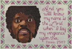Pulp Fiction Cross Stitch - Neatorama tHIS WINS THE INTERNET AS FAR AS i'M CONCERNED!