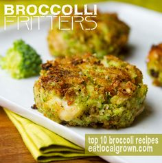 Broccoli Fritters #healthy #realfood #cleaneating - I think the girls might even eat these.......just needs some modifications of course to make it egg and dairy free.