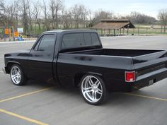 Chevy 1500 c/10 black with Bonspeed delta wheels 20/22