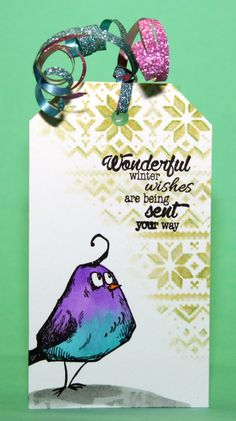 Cards by Maaike: Simon Says Stamp Wednesday Challenge: Tag it! with Tim Holtz