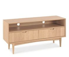 1220mm Long,  370mm Deep and  586mm High  Oslo Oak TV Console – Stacks Furniture Store