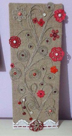 Watch The Video Splendid Crochet a Puff Flower Ideas. Phenomenal Crochet a Puff Flower Ideas. Embroidery Flowers Pattern, Crochet Flower Patterns, Crochet Flowers, Hand Embroidery, Doilies Crafts, Burlap Crafts, Button Art, Button Crafts, Burlap Projects